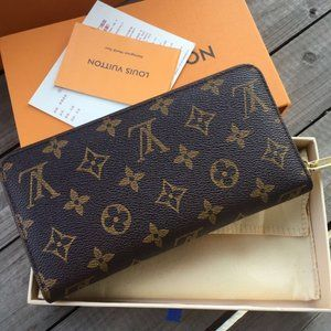 LV Zippy Wallet Monogram Brown Bag
